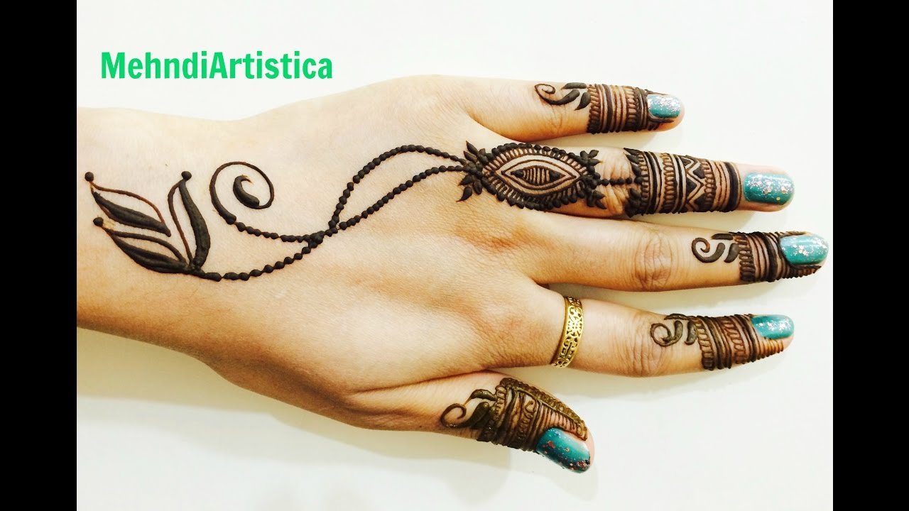 13 Unique Henna Designs Doing The Rounds This Wessing: Simple Easy Unique Henna Mehndi Design