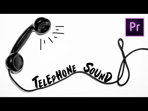 How to Create A Telephone Voice Sound Effect | Premiere Pro CC Tutorial