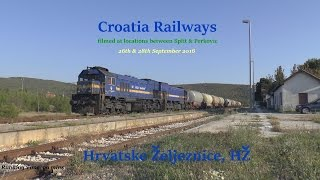 Croatian Railways  Hrvatske Željeznice, HŽ Between Split & Perkovic September 2016