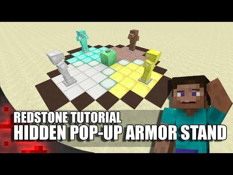 Minecraft: Hidden Pop-Up Armor Stand!