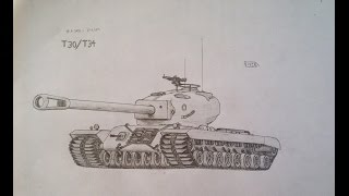 Drawing T30/T34 American heavy tank 2