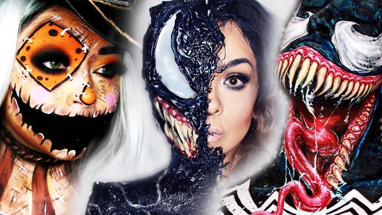 TOP 15 DIY Halloween Makeup IDEAS + VENOM DIY Costume 2018