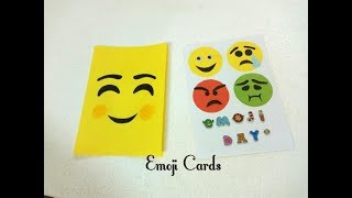 Emoji Day 2 New & Easy Cards 2018 | Two New ideas | Art Craft and Health