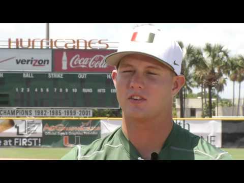 NBC6 Profiles Hurricanes 3rd Baseman David Thompson