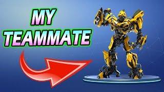 TEAMMATE IS A TRANSFORMER! - Fortnite Battle Royale