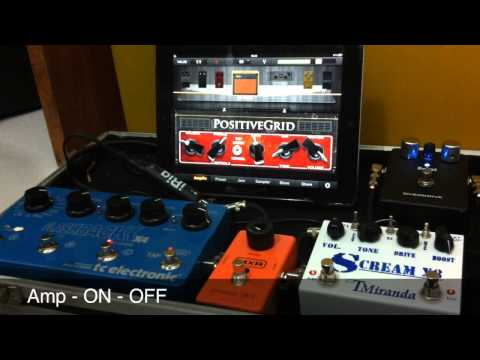 Pedal Board - Set Up    Guitar pedals  -   iPad iPhone  -  Cabinet Simulator -  JamUp XT -  Auria