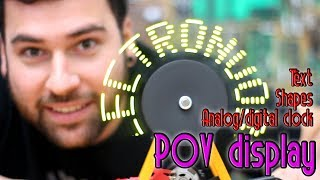 Tutorial - Arduino POV display TEXT, CLOCK