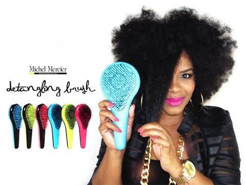 natural hair michel mercier detangling brush review youtube