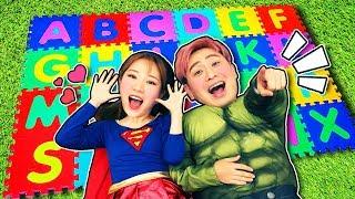 슈퍼히어로 강이와 ABC 알파벳 퍼즐매트로 영어 배우기 Superhero ABC Song