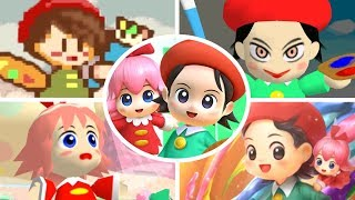 Evolution of Adeleine & Ribbon in Kirby Games (1996-2018)