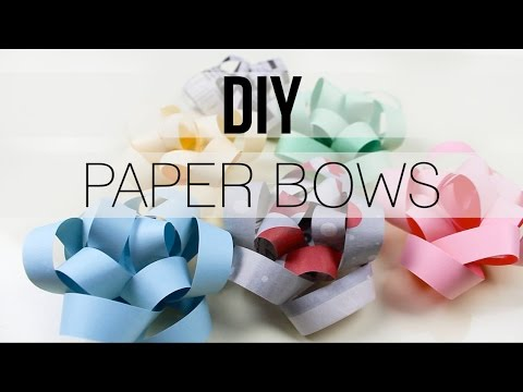 DIY | Gift Bow with Paper & Newspaper