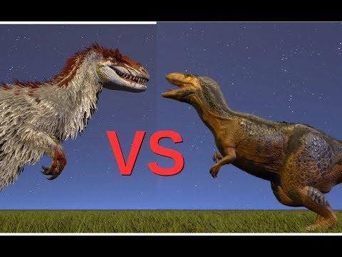 Yutyrannus vs Megalosaurus || ARK: Survival Evolved || Cantex