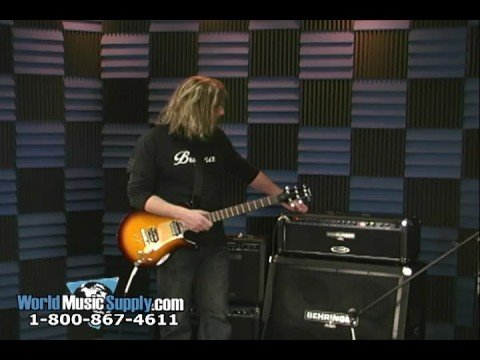 Behringer GMX Series of Electric Guitar Amps Demo