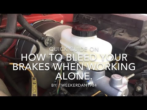 How to bleed your brakes without a helper  (Ford Ranger)