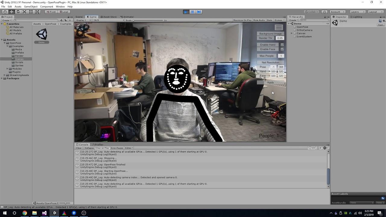 OpenPose Unity Plugin - Demo