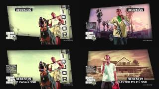 GTA5 loading time HDD vs SSD (PS3, BD)