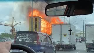 Пожар в Мытищах, на территории ТЭЦ-27. 11.07.2019