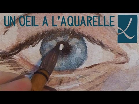 tuto peindre un il l 39 aquarelle watercolor eye l 39 atelier de louise youtube. Black Bedroom Furniture Sets. Home Design Ideas