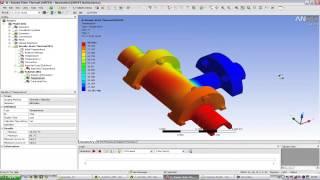 Видеоурок CADFEM VL1114 - Связанный расчет CFX+ANSYS Mechanical в ANSYS Workbench