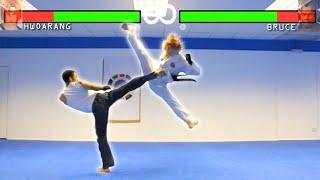 Real Life Tekken Fight | Hwoarang Vs Bruce Irvin | Flips & Kicks