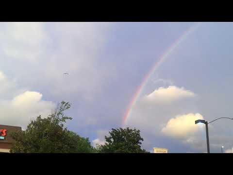 Full Double Rainbow over Bayfair Mall San Leandro California 04-15-18