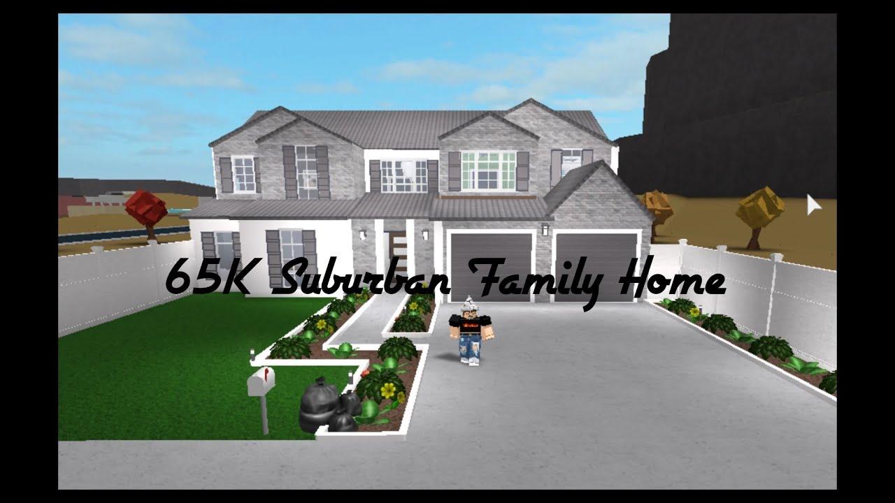Family Home Roblox Bloxburg 65k Suburban Family Home Roblox Bloxburg Youtube