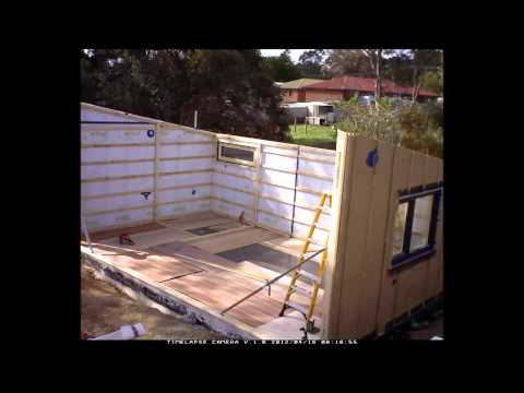Castlemaine Passivhaus | Erection of Prefabricated Panels
