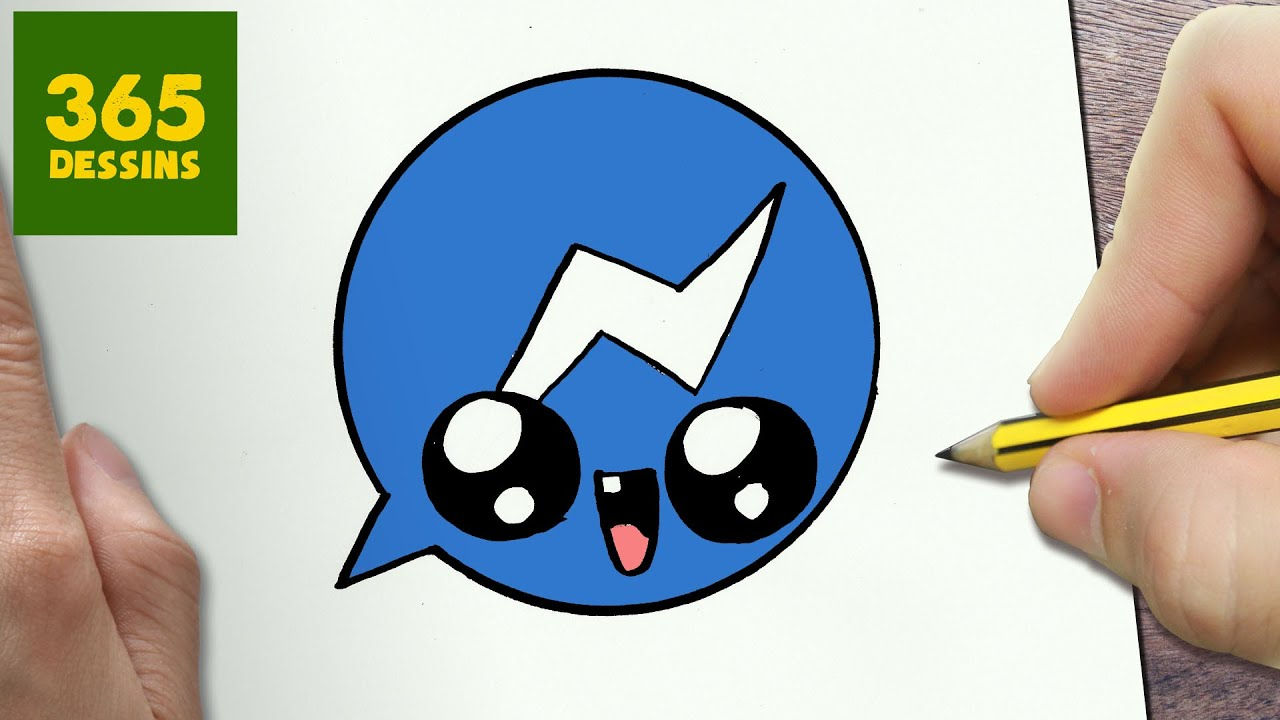 Comment Dessiner Logo Messenger Kawaii étape Par étape Dessins Kawaii Facile