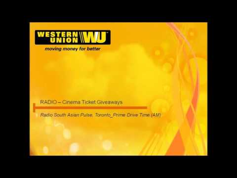 Western Union Canada 'FAN' movie FREE ticket giveways. Radio South Asian Pulse Toronto.
