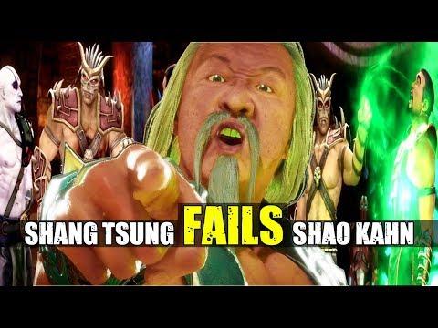 Shang Tsung Remembers Failing Shao Kahn Twice & Cloning Kitana ( Past Events ) MK9 & MK 11