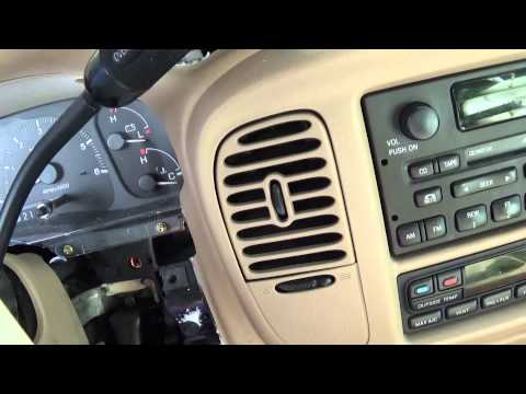 How To Remove A Dash Clock Out Of A 1999 Lincoln Navigator