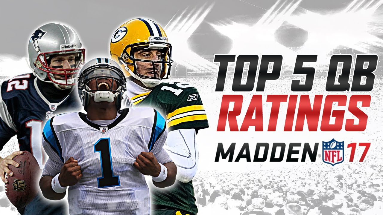 TOP 5 QB RATINGS IN MADDEN 17 | MUT 17 CARD ART! ELITES! - YouTube