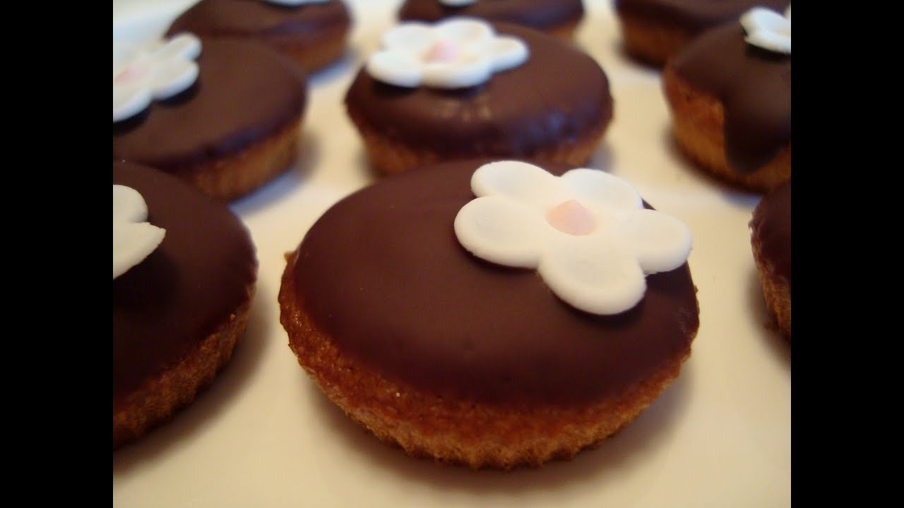 Mini Muffins Mit Schokoglasur Youtube