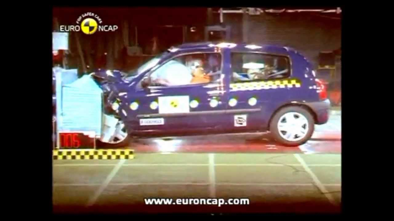 renault clio 1 2 3 4 crash test youtube. Black Bedroom Furniture Sets. Home Design Ideas