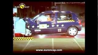 Renault Clio 1,2,3,4 crash test