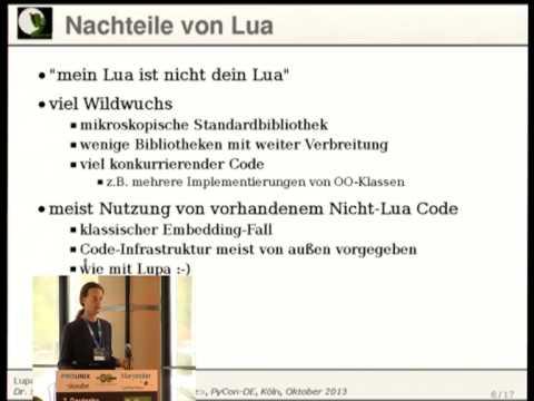 Lupa - LuaJIT in Python