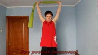 Обучение плаванию взрослых - упражнение с полотенцем