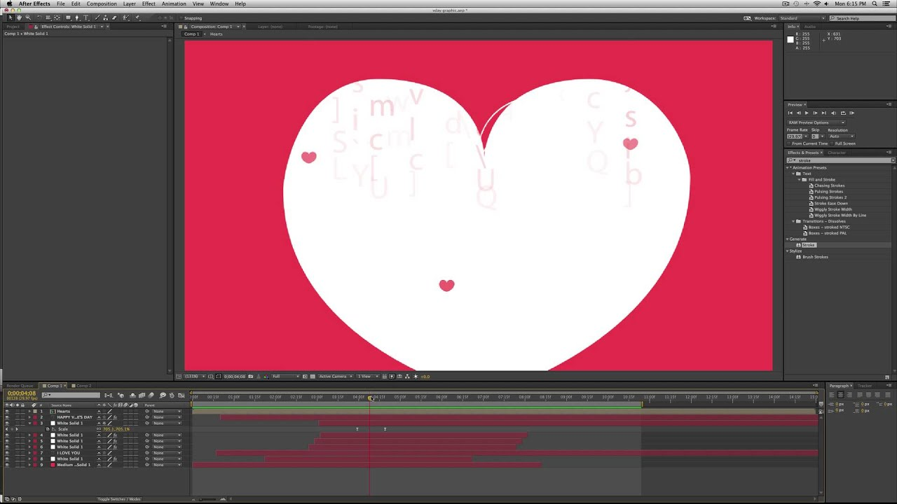 Valentine\'s Motion Graphic - After Effects Tutorial | Video School ...