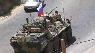 Тревога в Таджикистане! Колонна 201-й военной базы выходит из Душанбе на учения