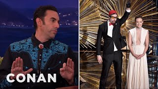 How Sacha Baron Cohen Snuck Ali G Into The Oscars - CONAN on TBS