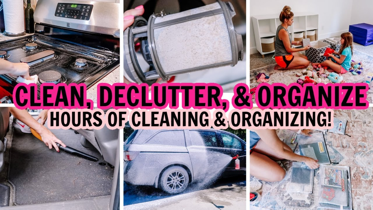 🥵EXTREME CLEAN, DECLUTTER, & ORGANIZE WITH ME! | ULTIMATE CLEANING MOTIVATION | CAR CLEANING