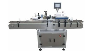 Vertical Adhesive Label Machine For Round Bottles Automatic Labeling System