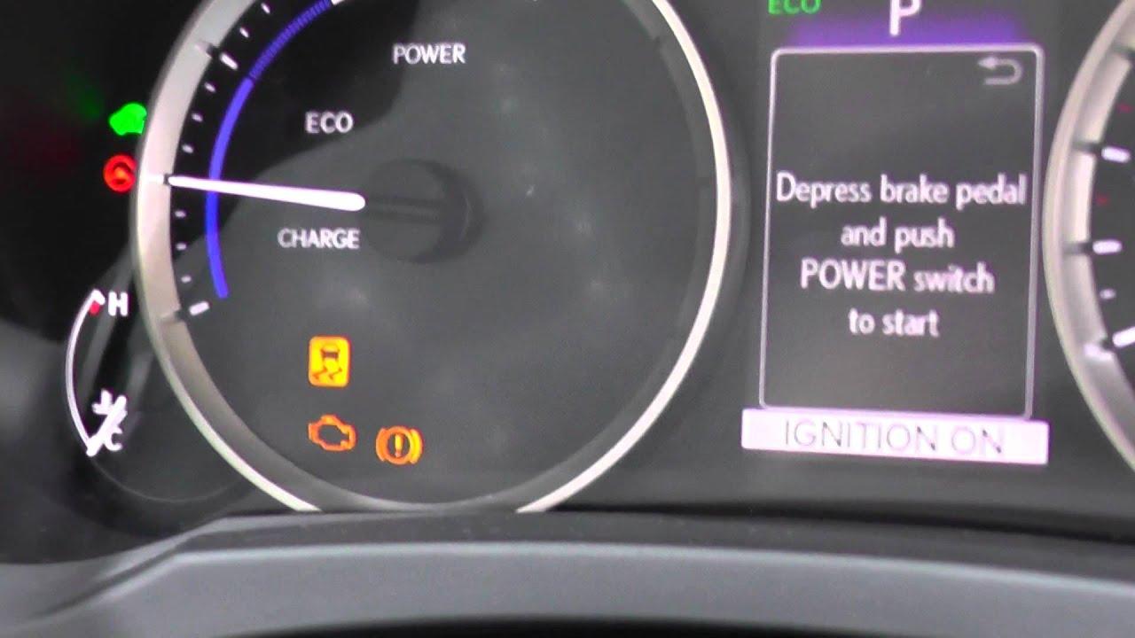 2014 lexus rx 350 dashboard warning lights