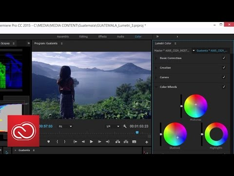 The New Lumetri 3-Way Color Corrector - Adobe Premiere Pro (2015) | Adobe Creative Cloud