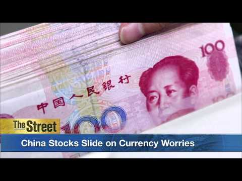 Currency Worries Again Send China's Shanghai Composite Index Sliding