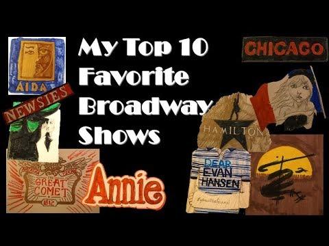 My Top 10 Favorite Broadway Musicals