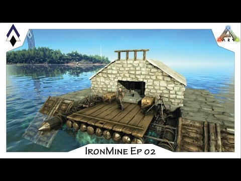 ARK IronMine Ep02: PVE Raft base - The Nest (a small fully outfitted