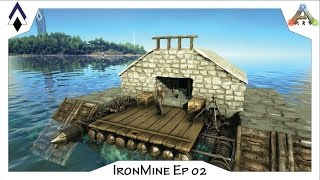 ARK IronMine Ep 02: PVE Raft base -The Nest (a small fully outfitted mobile base)