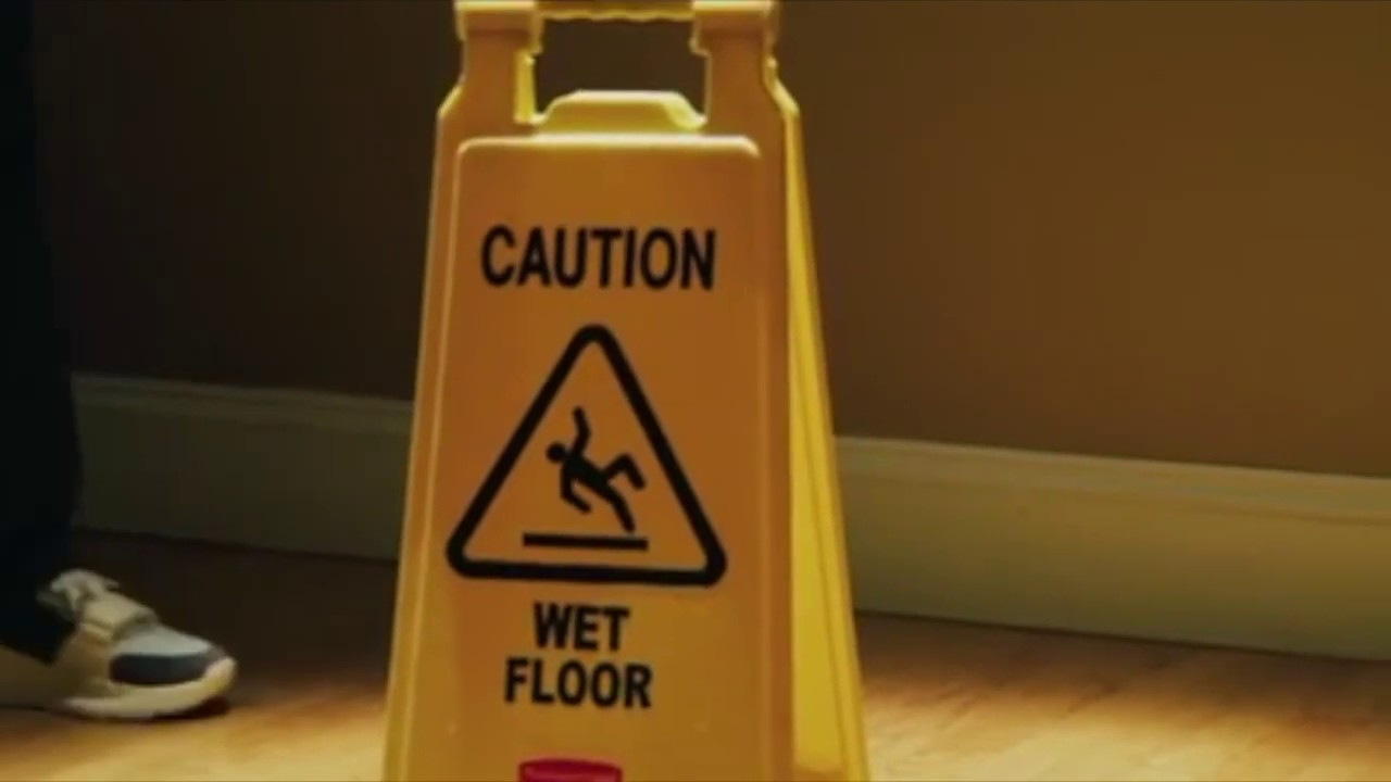 Wet Sign Just To Catch Em Slippin