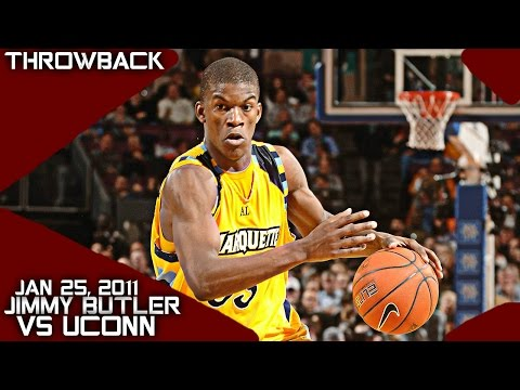 Jimmy Butler Marquette Full Highlights vs Uconn (1-25-11) 21 Pts 8 Rebs, Jimmy G!